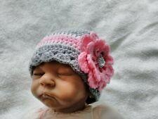 Hand crochet  Baby Girls Hat 3 - 6 months