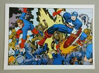 VINTAGE MARVEL COMICS: CAPTAIN AMERICA, PIN-UP POSTER, JACK KIRBY, 1978