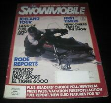 Vintage Snowmobile Magazine polaris yamaha ski doo Kawasaki arctic cat 1986