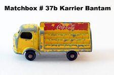"Matchbox Lesney Regular Wheels Series # 37b Karrier Bantam ""Coca Cola"" LKW"
