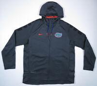 Florida Gators Nike Elite Therma Fit NCAA Gray Hooded Full Zip Mens Jacket XL