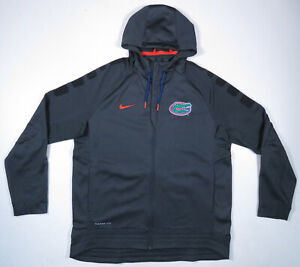Florida Gators Nike Elite Therma Fit NCAA Gray Hooded Full Zip Mens Jacket XL