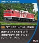 Kato 1-322 JR Electric Locomotive Type EF81-95 Rainbow Painting (HO scale)