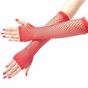 Long Fishnet Fingerless Gloves Mesh Net Sexy Lace Gloves For Fancy Party Dress