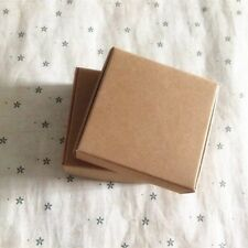 100x Kraft Paper Favour Boxes Party Baby Shower Gift Jewellery Packing 7x7x3cm