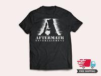 New Aftermath Records Entertainment Rap Label Logo Mens Black T-Shirt Size S-5XL