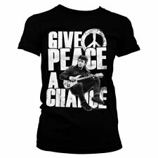 Officially Licensed John Lennon- Give Peace A Chance Women's T-Shirt S-XXL Sizes