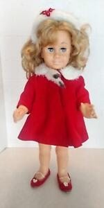 Vintage 1960 Mattel Chatty Cathy With Original Red Coat & Shoes (Mute)