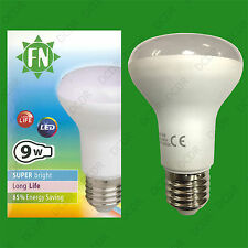 9W ES E27 R63 Reflector Lamp 730lm 6500K Daylight Pure White LED Spotlight Bulb