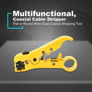 Coaxial Cable Stripping Tool Network Cable Stripper Cutter Stripping Pliers #7