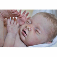 Lifelike Reborn Sleeping Dolls Unpainted Doll Kits Soft Vinyl Reborn Kits DIY