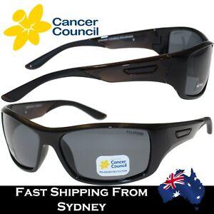 Cancer Council Unisex Polarized Sunglasses Burleigh Black Frame Smoke Lenses