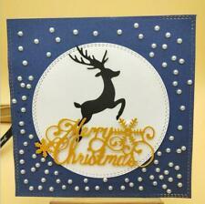 Reindeer Cutting Die Christmas Metal Cutting Dies  Die Cut Craft Embossing Card