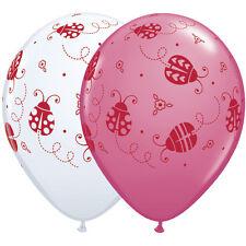 "10 pc 11"" Sweet Ladybugs Around Latex Balloons Party Decoration Lady Bug Garden"