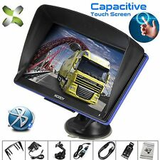 "7"" 8GB Truck Car GPS Navigation Lorry Coach Sat Nav Bluetooth AV-IN EU UK HGV"