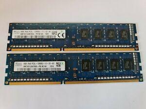 8GB ( 2x4GB ) PC3L-12800 DDR3-1600 MHz NON ECC HP 698650-154 HYNIX HMT451U6BFR8A