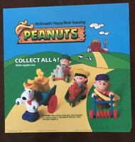 Vintage Collectible McDonald's Peanuts Translite Plastic Sign Happy Meal