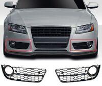 Für Audi A5 8T 07-12 S-line Rs5 Look Nebelscheinwerfer Blende Wabengrill Grill