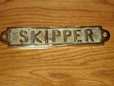 Laiton (skipper) plaque main fondre porte sign-kitchen office cabine / bar / pub bateau