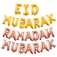 16''slam Happy Eid Mubarak Ramadan Foil Balloon Gold Silver Balloons Party Decor