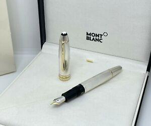 Montblanc Meisterstück LeGrand 146 Solitaire Sterling Silver Barley Fountain Pen