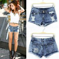 SEXY Women Summer Fashion Vintage Denim Low Waist Jean Slim Shorts Hot Pants