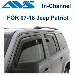 AVS 194359 Fits 07-18 Jeep Patriot Rain Guards In-Channel Window Vent Visor 4pc