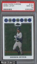2008 Topps Chrome Derek Jeter New York Yankees PSA 10 GEM MINT