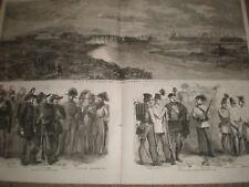 GUERRA IN ITALIA VISTA DI ALESSANDRIA & SARDO e le truppe austriache 1859 stampe