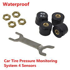Bluetooth TPMS Car Tire Tyre Pressure Monitoring System Alarm Warning 4 Sensors