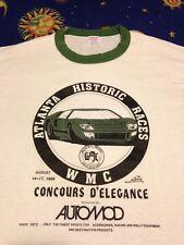 Vintage 80s Racing t shirt Ringer Road Atlanta Concours D' Elegance S/M FreeShip