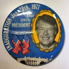 3 1/2 INCH JIMMY CARTER INAUGURATION  DAY BUTTON Jam.20 1977 Our 39th president