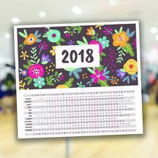 Calendar 2018 42x38 cm - self adhesive Calendar Monthly Calendar
