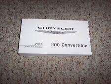 2011 chrysler 200 touring owners manual