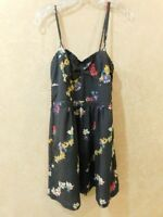 AMERICAN EAGLE SZ 6 DRESS SLEEVELESS Grey FLORAL PRINT AE NOT LINED ______ R11F1