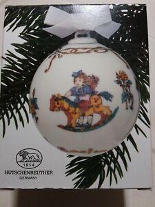 Hutschenreuther Weihnachtskugel 1986 Schaukelpferde Neu OVP, Erstausgabe !