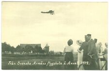 SWEDEN: Air pioneer, flying unused postcard, Axvall 1912 (3).