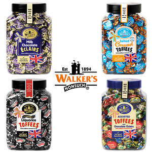 Walkers Nonsuch Full Gift Jar Toffees Eclairs Liquorice Caramel 1.25kg