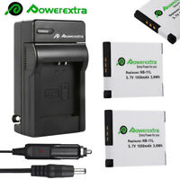 2 NB-11L NB11LH Battery + Charger for Canon PowerShot ELPH 110 HS A2300 A2500 IS