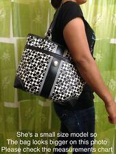 #U2 No Reserve Coach Women's HandBag Purse Shoulder Bag Signature Leather