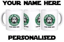 STARBUCKS STAR WARS COFFEE STRAIGHT WHITE  NOVELTY MUG - PERSONALISED FREE
