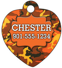 Camo Pet Id Tag for Dogs & Cats Personalized w/ Name & Number