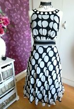 Wallis Spotted Fit and Flare Dress Size 14