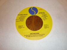 Talking Heads 45 And She Was PROMO SIRE