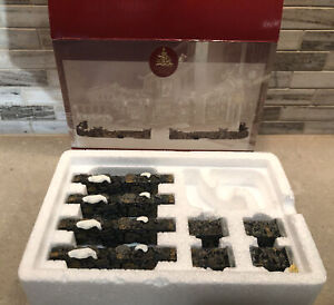 Lemax Village Stone Wall Fence Set Of 10 Poly-Resin 1999 # 93304A WB