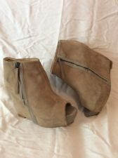 Zara Woman Brown Ankle Suede Boots Size 39