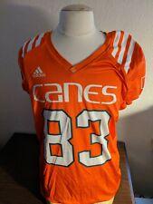 University of Miami Hurricanes adidas Orange #83 Practice Jersey Game Worn Large