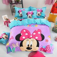 Cartoon Minnie Mouse Duvet Cover Twin/Full Kids Comforter Cover PillowCase Gift