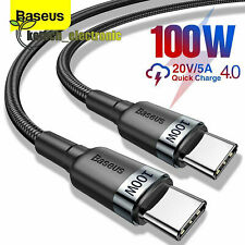 Baseus 6ft 5A 100W Type C to C Cable Qc 4.0+Pd 2.0 Fast Charger Lead L2Ke