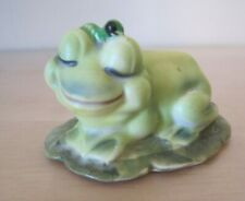 Josef Originals Frog Figurine on Lilypad Japan